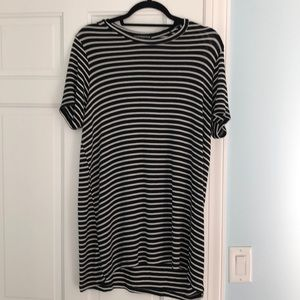 Brandy black and white striped T-shirt dress